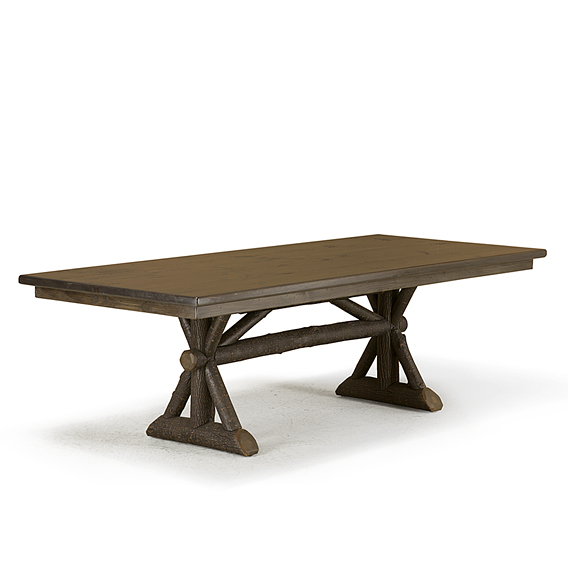 Rustic Dining Table #3500 (Shown in Ebony Finish with Dark Pine Top)