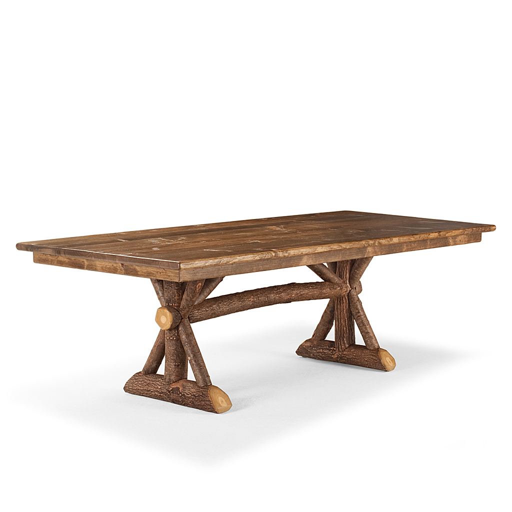 Rustic trestle dining table la lune collection Trestle dining table