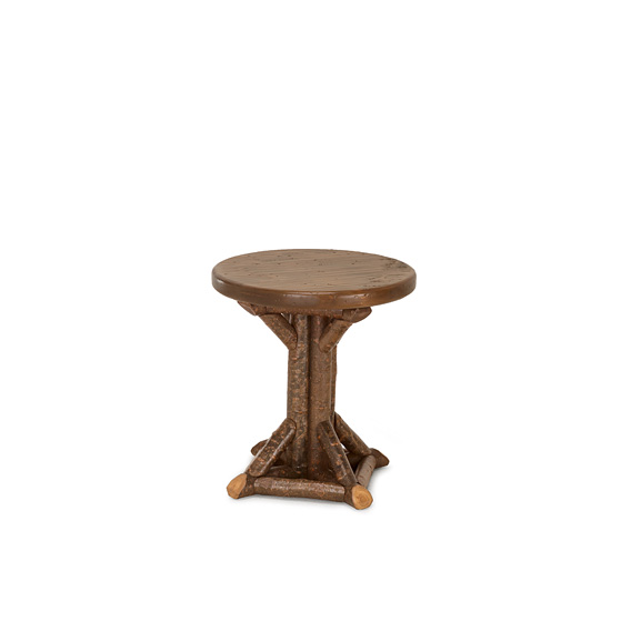 Rustic Side Table #3528 (Shown in Natural Finish with Medium Pine Top)