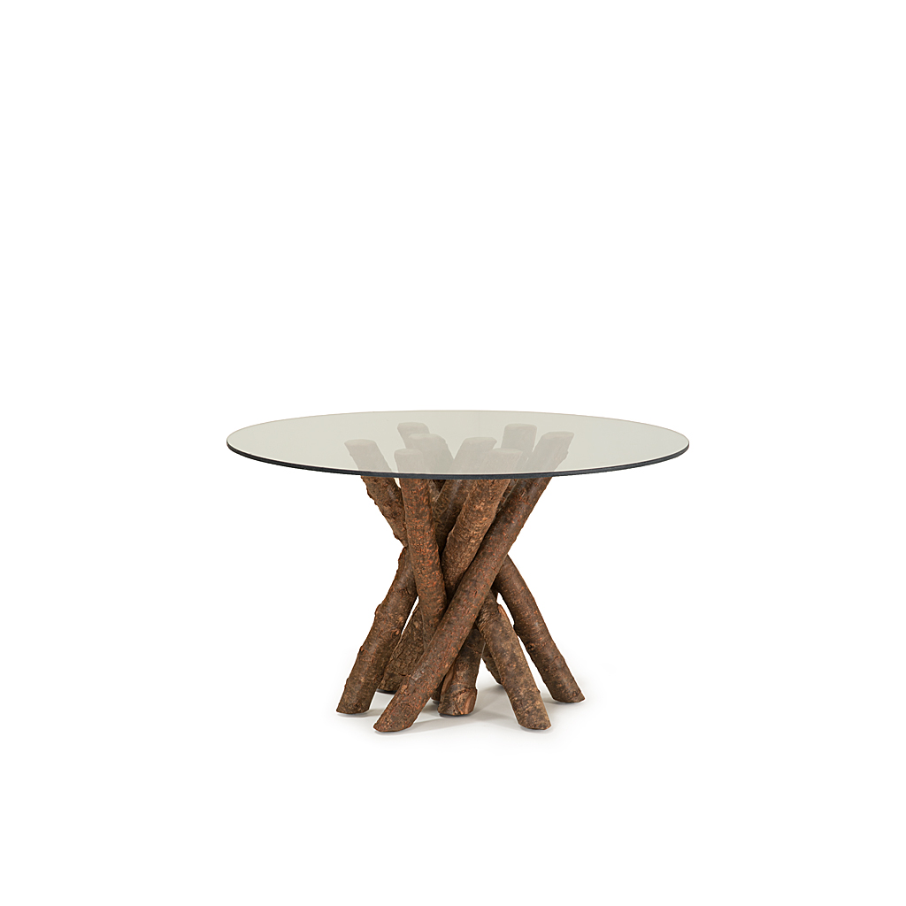 Rustic Dining Table Base Only #3095 Glass Top Not Included, Shown In  Natural Finish