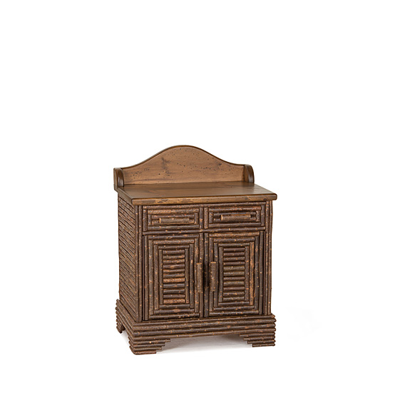 Rustic Vanity #2180 shown in Natural Finish (on Bark) with Medium Pine Top