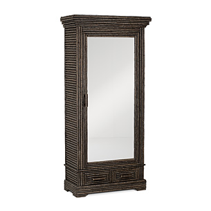 Rustic Armoire with Mirrored Door