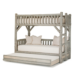 Rustic Bunk Bed with Trundle