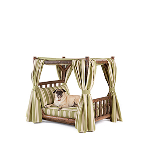 Rustic Dog Canopy Bed