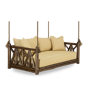 Rustic Hanging Daybed #4635 & Hanging Bed #4636