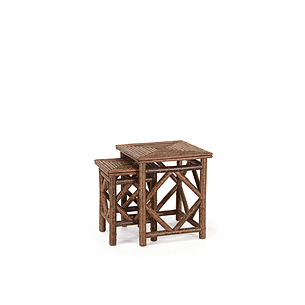Set of Two Rustic Nesting Tables