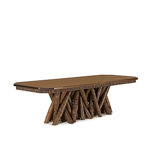 Rustic Dining Table w/Cut Corners