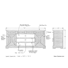 Custom 2110 shop drawing