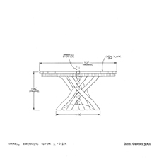 Custom 3091 Table shop drawing 2