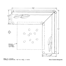 Custom Banquette shop drawing 1