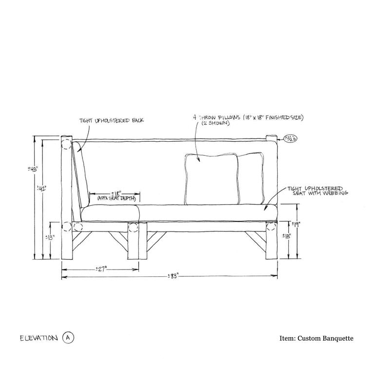 Custom Banquette Shop Drawing 1 2