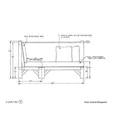 Custom Banquette shop drawing 2