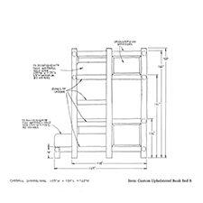Custom Upholstered Bunk Bed B shop drawing