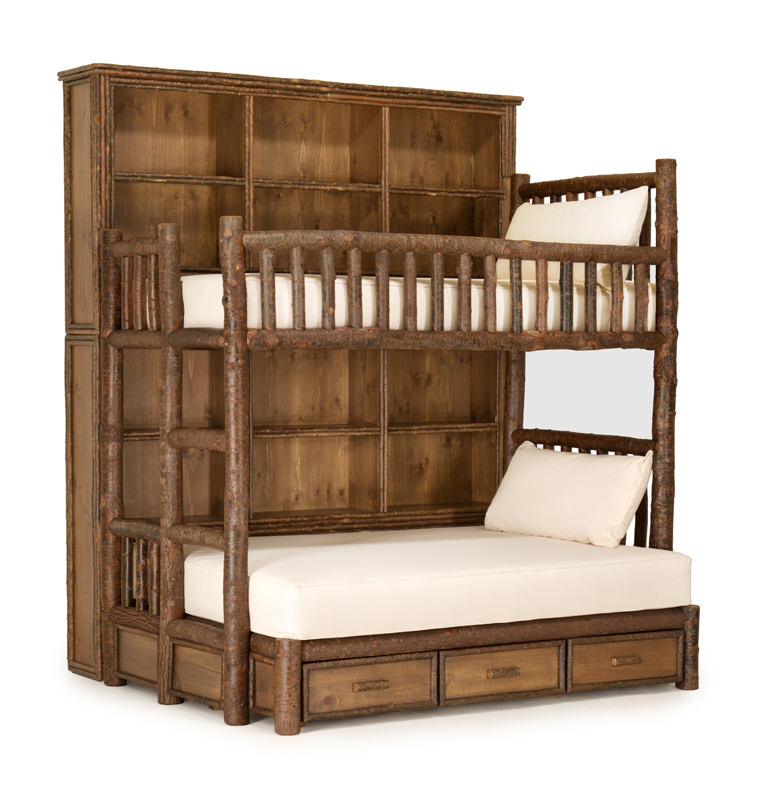 ... Custom Bunk Bed with Bookshelf photo