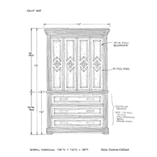 Custom cabinet shop drawing 1