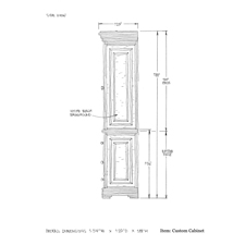 Custom cabinet shop drawing 2