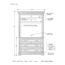 Custom cabinet shop drawing 3