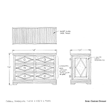 Custom dresser shop drawing