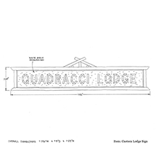 Custom Lodge Sign shop drawing