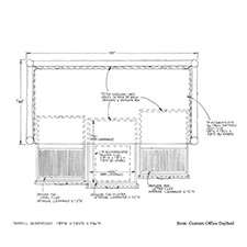 Custom Office Daybed shop drawing 3