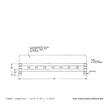 Custom Queen Platform Bed shop drawing
