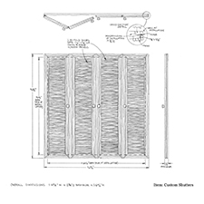 Custom shutters shop drawing