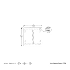 custom square table shop drawing 1