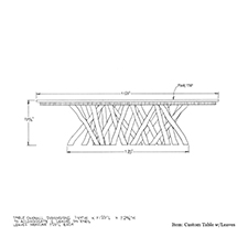 Custom Table with Leaves shop drawing 2