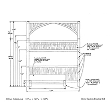 Custom Tree Top Bed shop drawing 1
