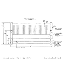 Custom Trundle Daybed shop drawing 1