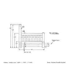 Custom Trundle Daybed shop drawing 2
