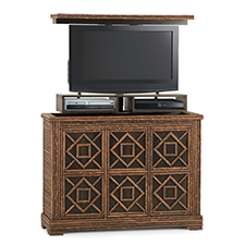 Custom tv lift cabinet photo 2