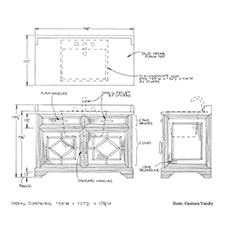 Custom Vanity shop drawing