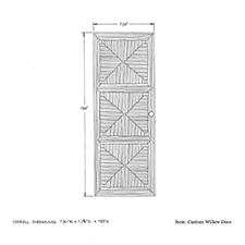 Custom Willow Door shop drawing