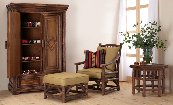 Club Chair 1174, Ottoman 1173, Armoire 2023, Table 3438