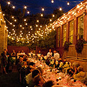 Al fresco diners treated to opera harmonies