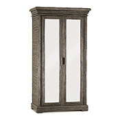Rustic Armoire with Mirrored Doors #2002