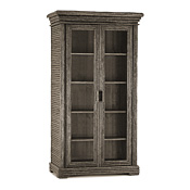 Rustic Armoire with Glass Doors #2004