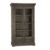 Rustic Armoire with Glass Doors #2016