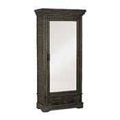 Rustic Armoire with Mirrored Door #2029