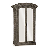 Rustic Armoire with Mirrored Doors #2090