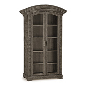 Rustic Armoire with Glass Doors #2092