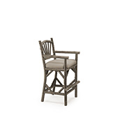 Rustic Bar Stool with Arms #1124