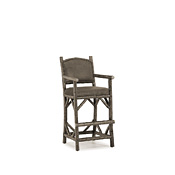 Rustic Counter Stool with Arms #1392