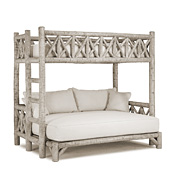 Rustic Bunk Bed Twin/Full (Ladder Left) #4254L