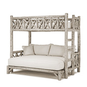 Rustic Bunk Bed Twin/Full (Ladder Right) #4254R