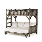 Rustic Bunk Bed Twin/Full (Ladder Left) #4255L