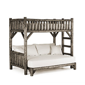 Rustic Bunk Bed Twin/Full (Ladder Right) #4255R
