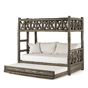 Rustic Bunk Bed with Trundle (Ladder Left) #4256L
