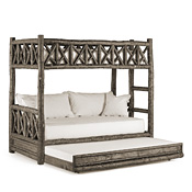 Rustic Bunk Bed with Trundle (Ladder Right) #4256R